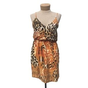 W118 By Walter Baker Black/Gold Animal Lia Dress S